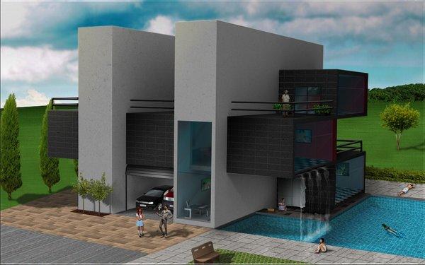 Casa de piscina por balonyshow dibujando for Software diseno piscinas