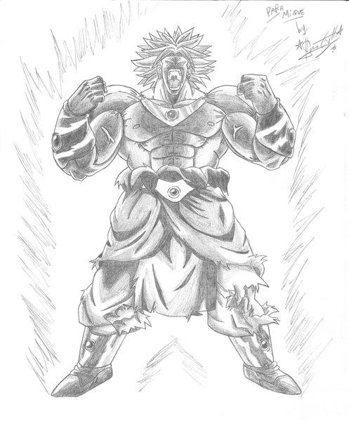 Broly ssj legendario para dibujar - Imagui