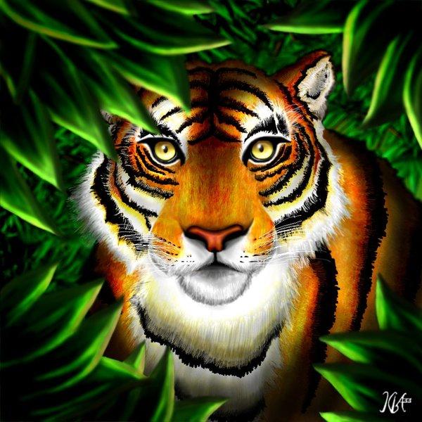 Tigre de Bengala en caricaturaz - Imagui