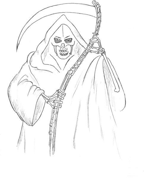 Santa muerte dibujos para colorear - Imagui