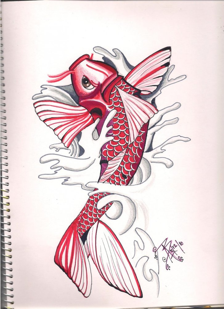 Pez koi por nikita3189 dibujando for Imagenes de peces chinos