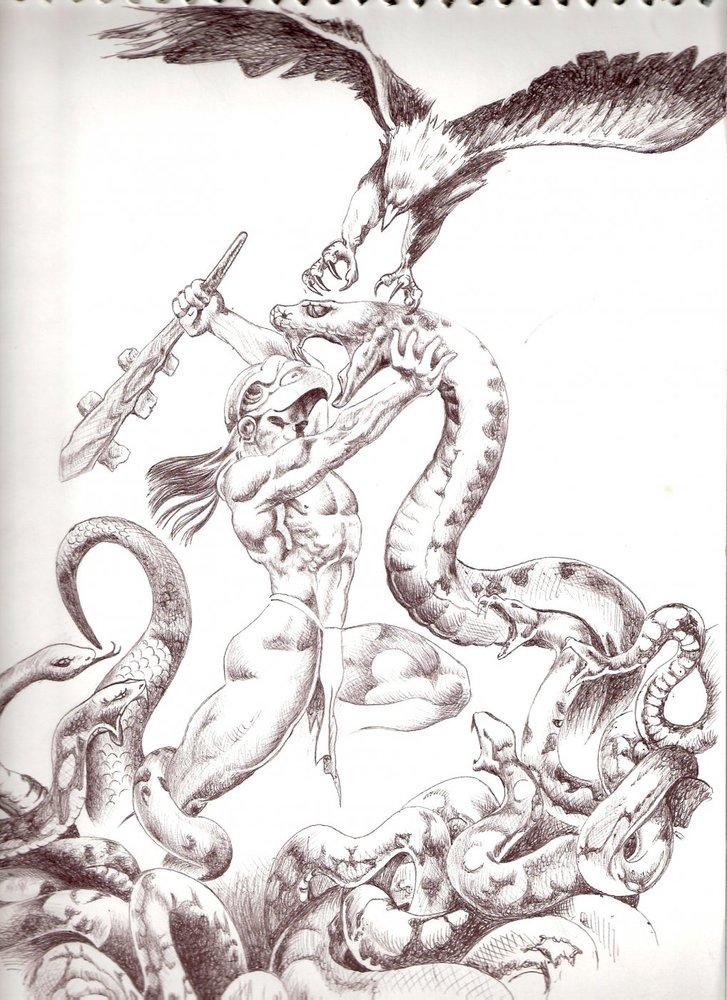 gerrero azteca hombre aguila por herkcam dibujando