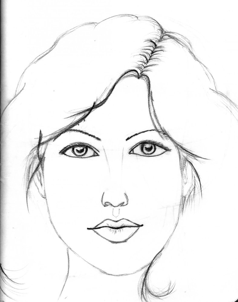 Dibujos De Caras De Mujer