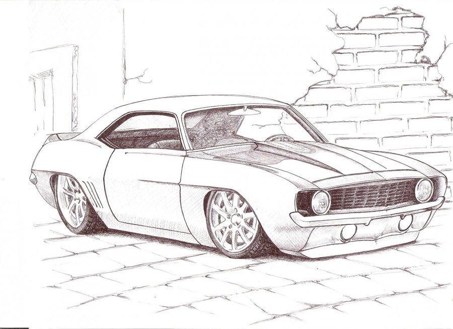 Camaro Clasicccc Por Herkcam Dibujando