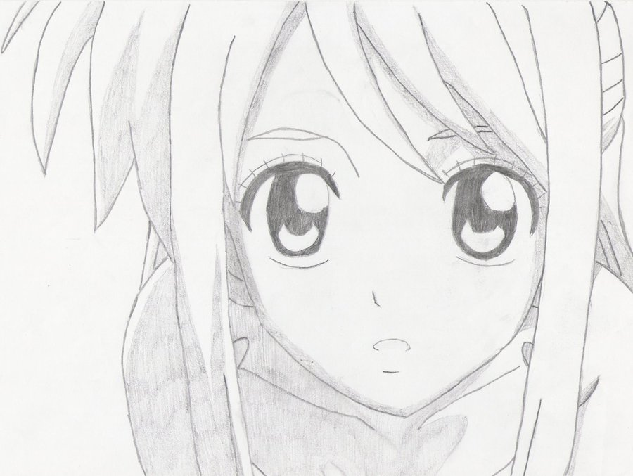Lapiz Faciles Anime Dibujo Amor De