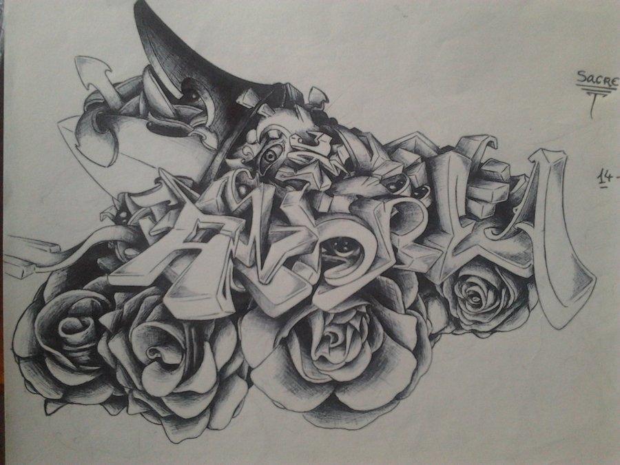 Graffiti Andrea Por Sacrestyle Dibujando