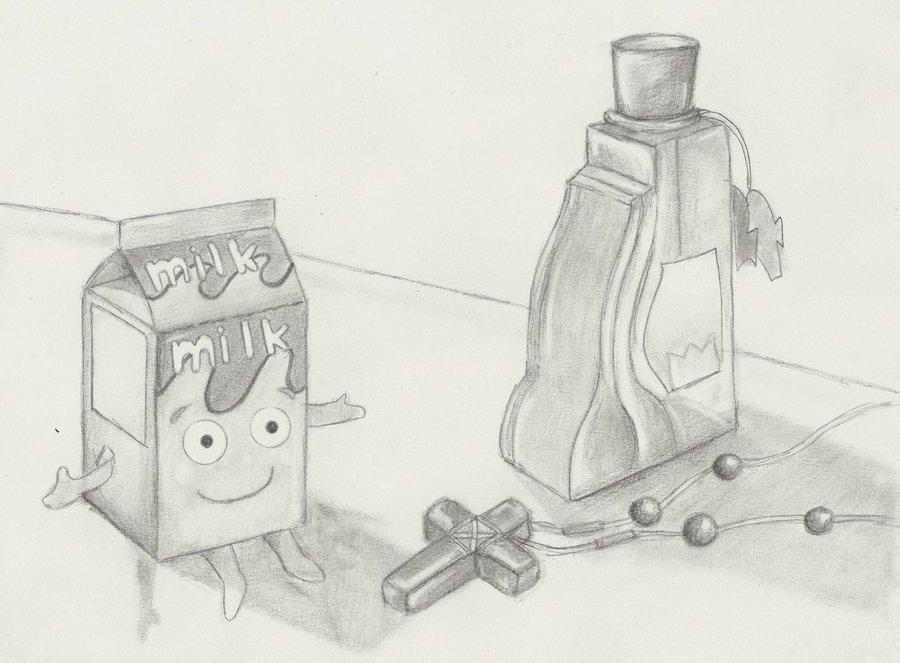 DIBUJO A LAPIZ milkcruzperfurme 23 D por AlalAg  Dibujando