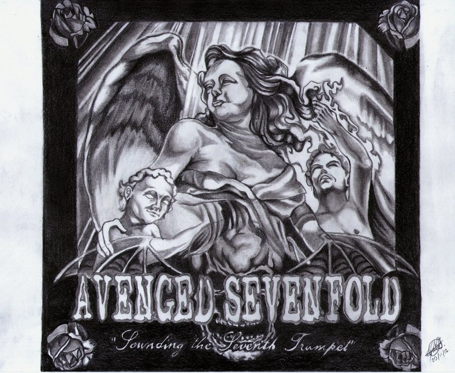 """Portada de Disco de Avenged Sevenfold: """"Sounding the sevent ..."""