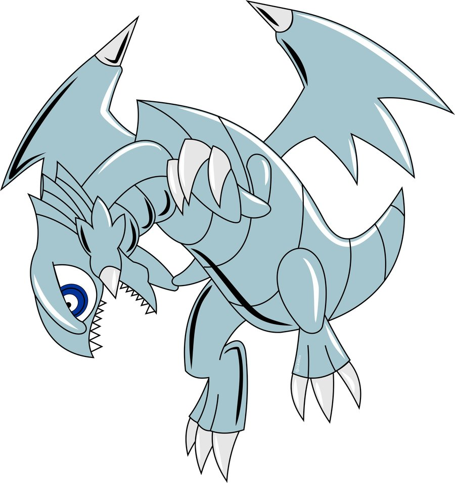 blue eyes toon dragon por ci3ntifico dibujando