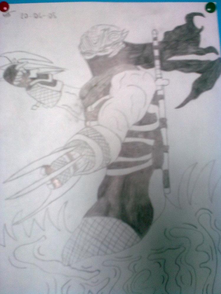 Ninja Gaiden Lápiz Por Loren Dibujando
