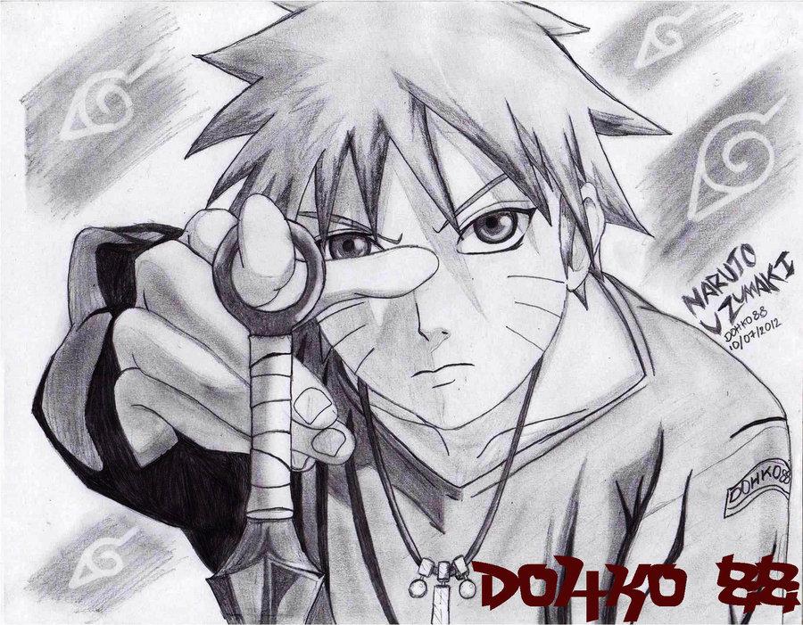 Naruto A Lapiz Por Dohko88 Dibujando