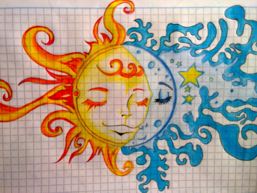 Sol Y Luna Por New Genesis Dibujando
