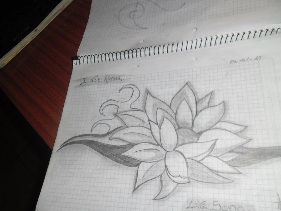 Flor De Loto Por Kary Hr Dibujando