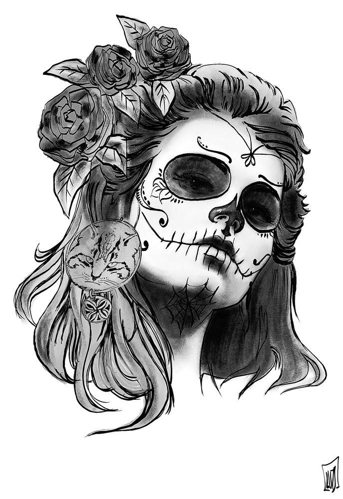 Dibujos De Catrinas Para Tatuajes Images