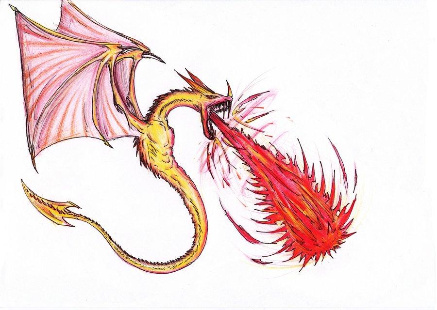Dragon escupiendo fuego por MADAFACART | Dibujando