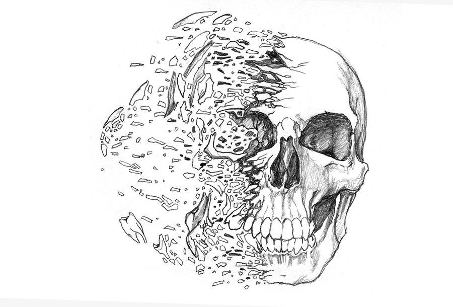 Calavera por Zherj | Dibujando