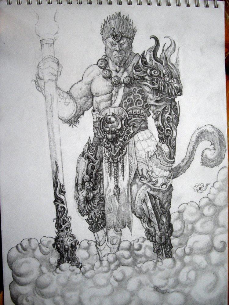 Sun Wukong Por Mdq181 Dibujando