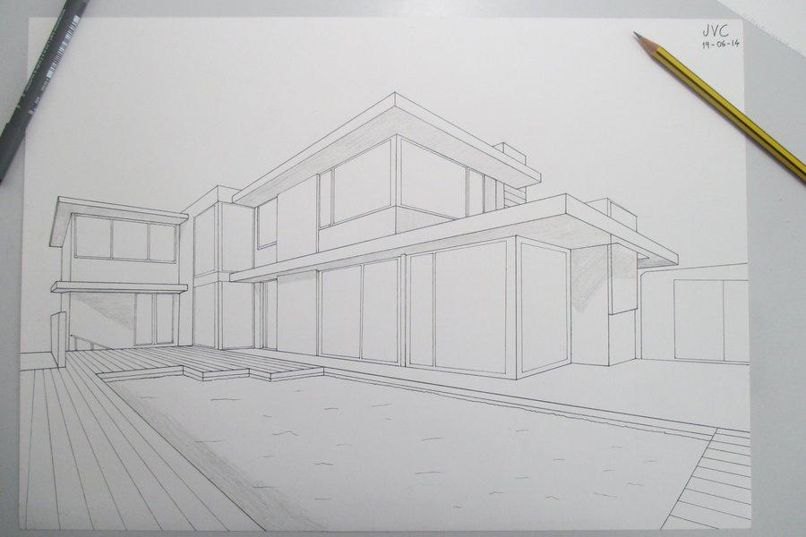 dise o casa moderna 1 por jvc dibujando