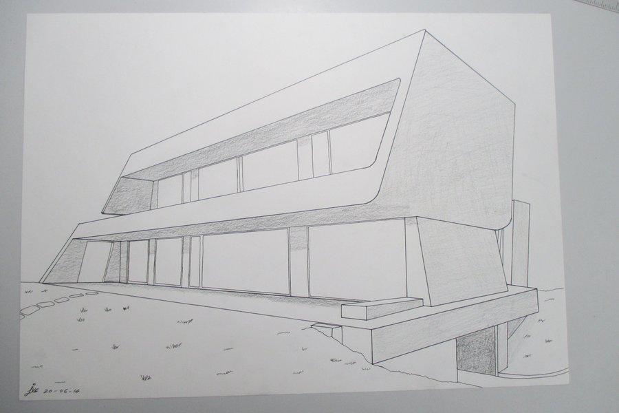 dise o casa moderna 2 por jvc dibujando