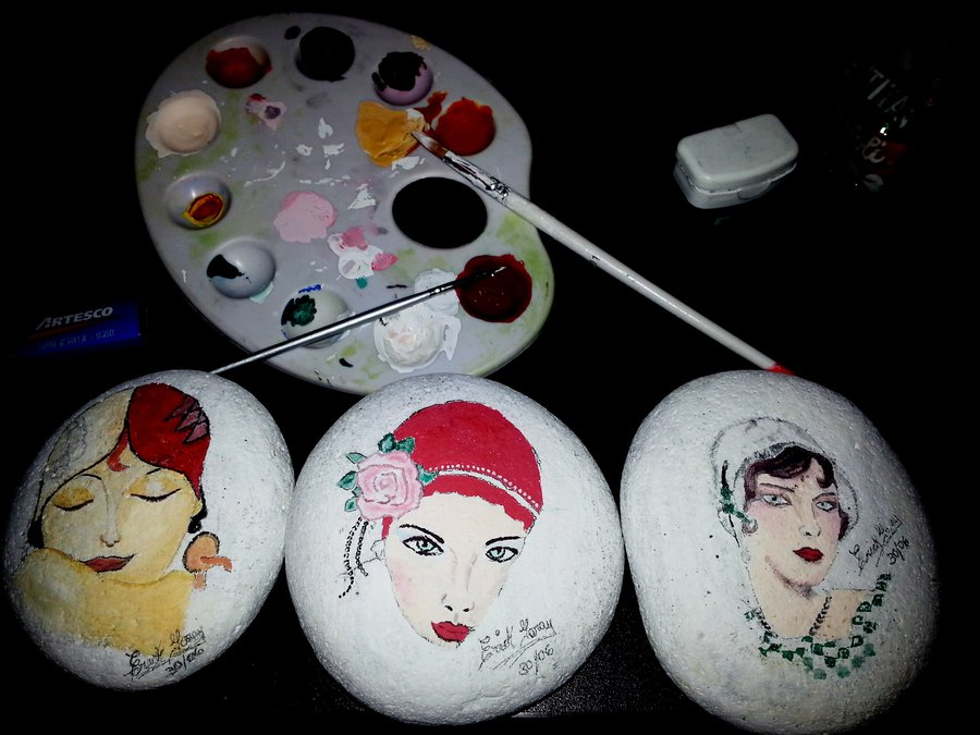 Pintura en piedra por erickroses dibujando for Pintura de piedras