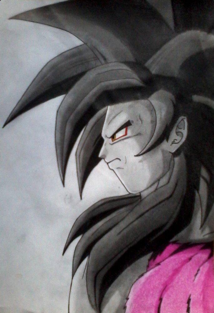 Goku fase 4 por Eliseo  Dibujando