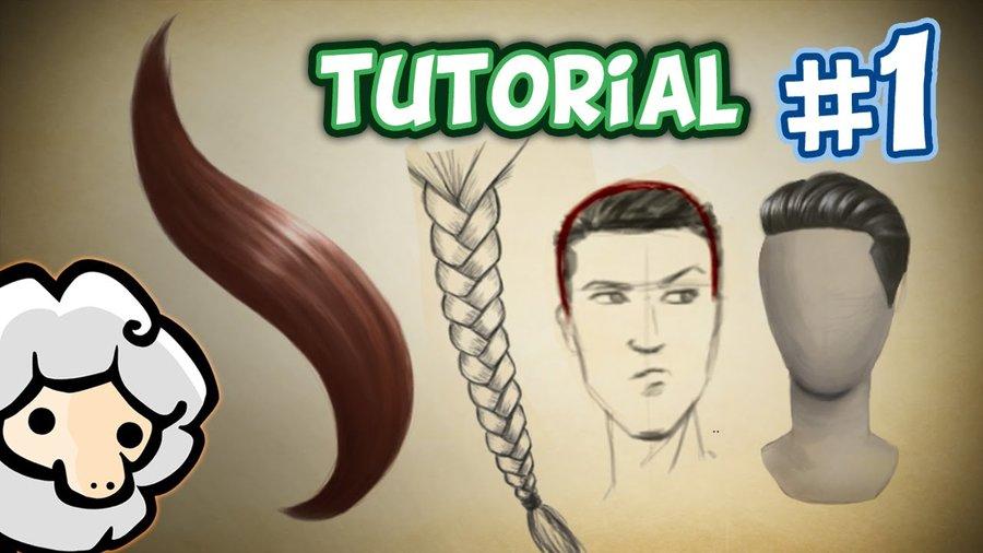 Como dibujar y pintar pelo realista por David-Sheep | Dibujando