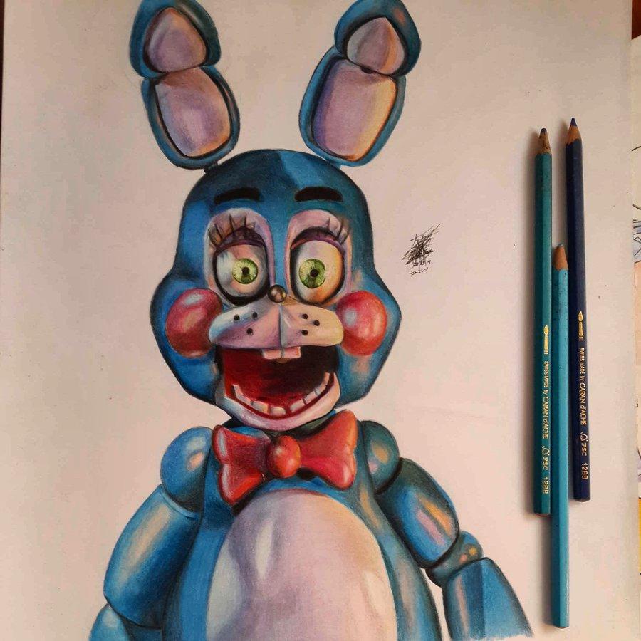 Toy Bonnie De Five Nights At Freddys Por Arpegius1997 Dibujando