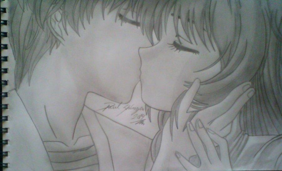 Dibujo Romantico Anime Por Shinzen Dibujando