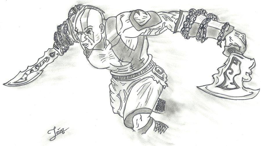 God Of War Por Jeims Dibujando