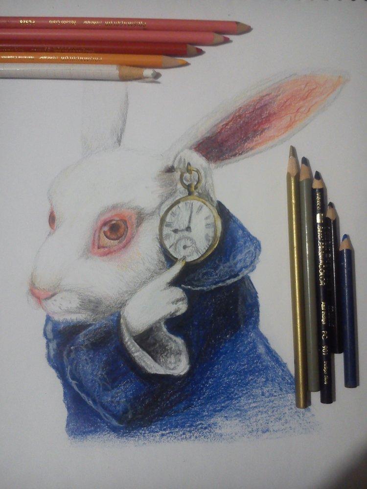 Conejo blanco alicia en el pais de las maravillas por betoarts dibujando - Conejo de alicia en el pais de las maravillas ...