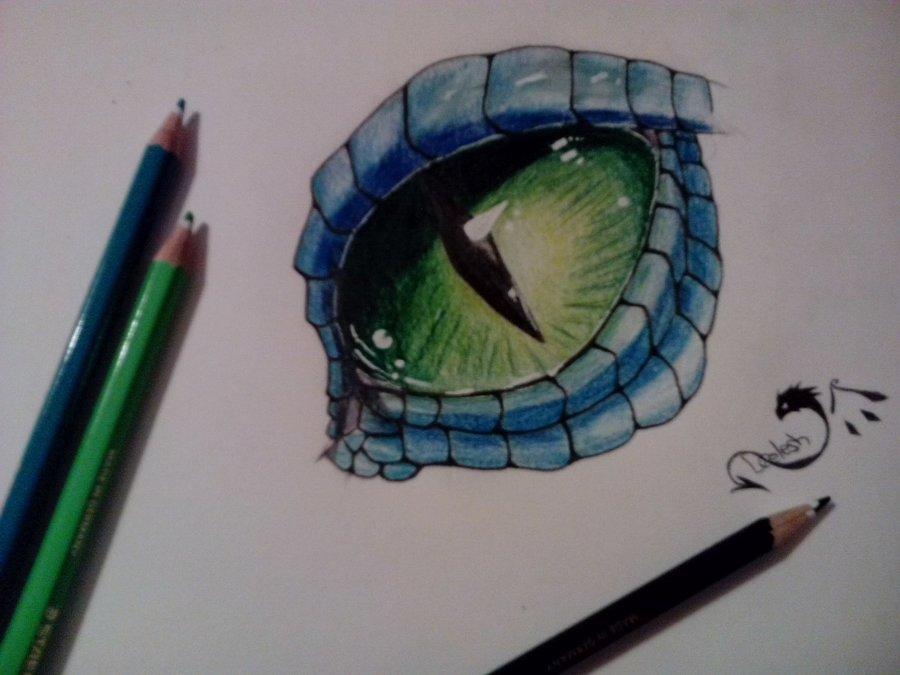 Ojo de dragn por DragonCelesh  Dibujando