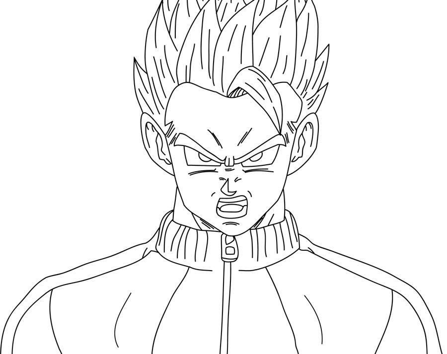 Dibujos Para Colorear De Dragon Ball Z Gohan Ssj2 Ideas: Gohan Por Sayajin