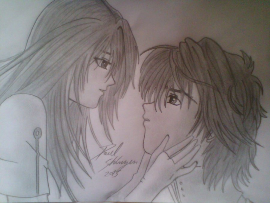 Dibujo Pareja Anime Por Shinzen Dibujando