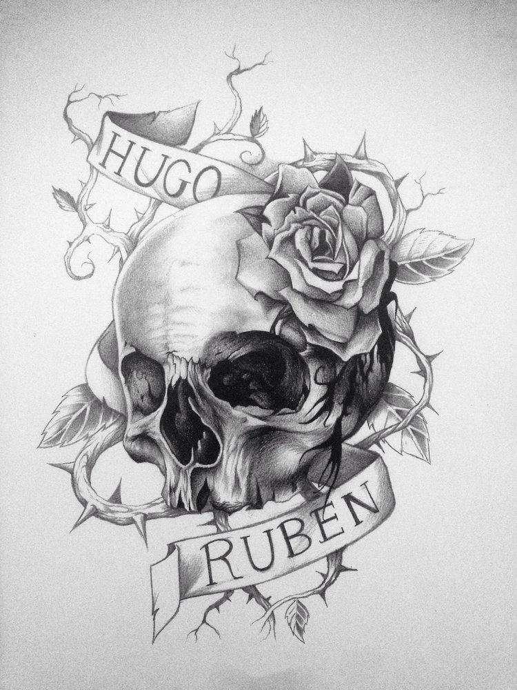 Calavera Diseno Tattoo Por Dani21 Dibujando
