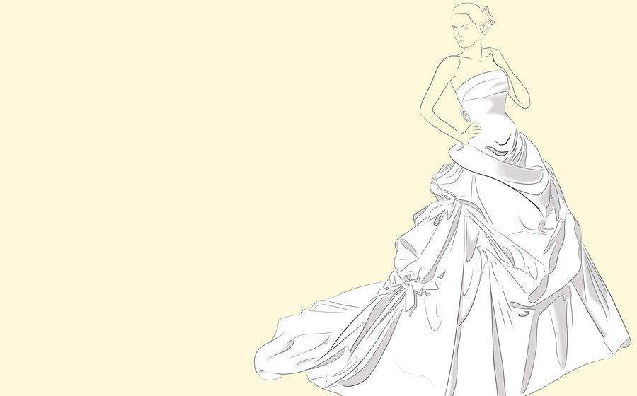 vestido de novia por mefistofeles | dibujando