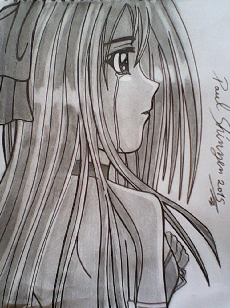 Otra Chicas De Anime Medio Triste Por Shinzen Dibujando