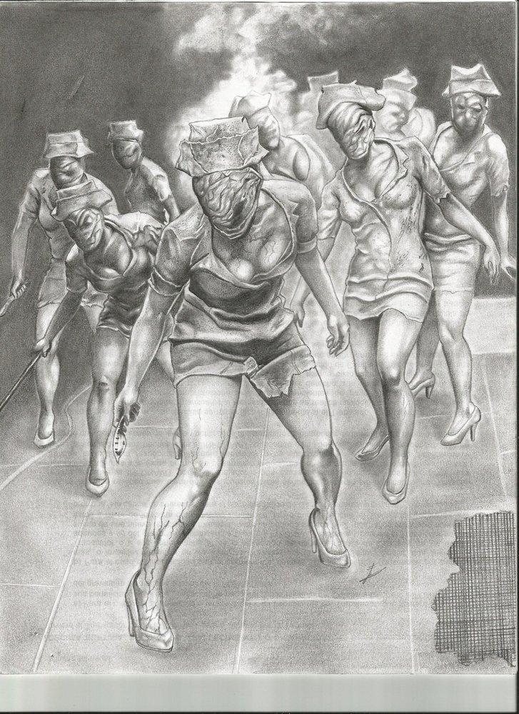 Enfermeras de Silent Hill  Horror Art  Pinterest  Enfermera de