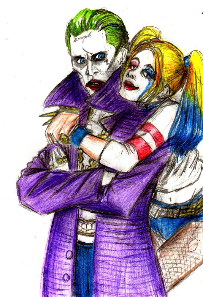 Joker Y Harley Quinn Por Petrushka Dibujando