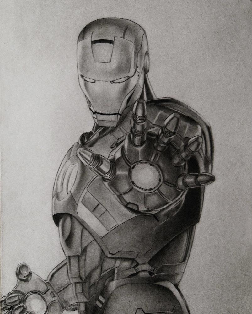Iron Man Sketch A Lápiz Por Sacredtears Dibujando