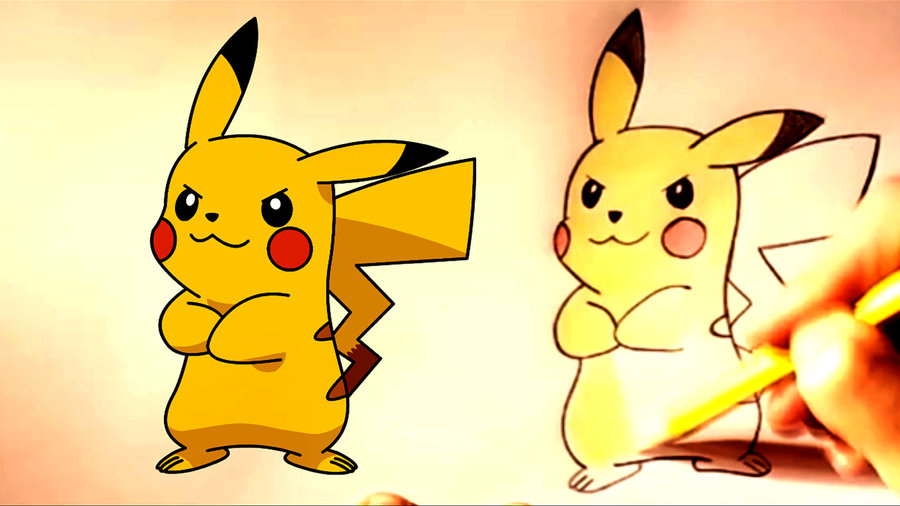 How To Draw Pikachu Step By Step Pokemon Go Por Dibujos Para