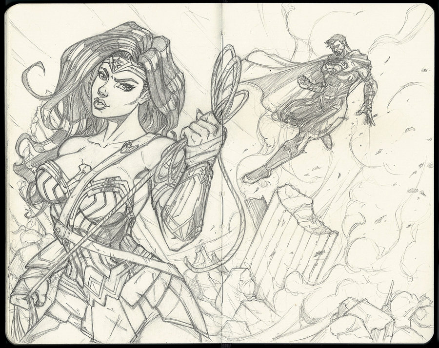wonder_woman__and_superman__sketch_by_muglo_da3qzwa_322038.jpg