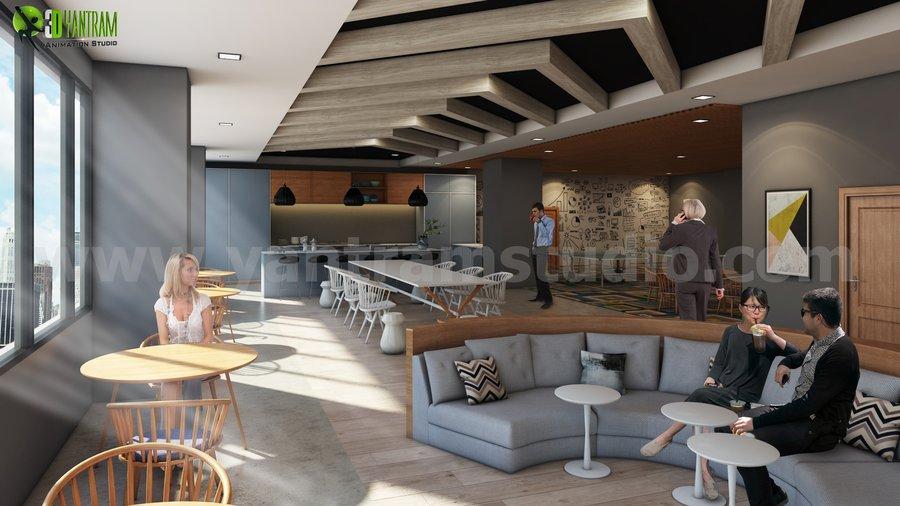 Ideas modernas del diseño interior de la oficina por estudioyantram ...