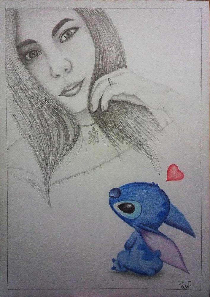 Stitch Enamorado Por Paguvi Dibujando