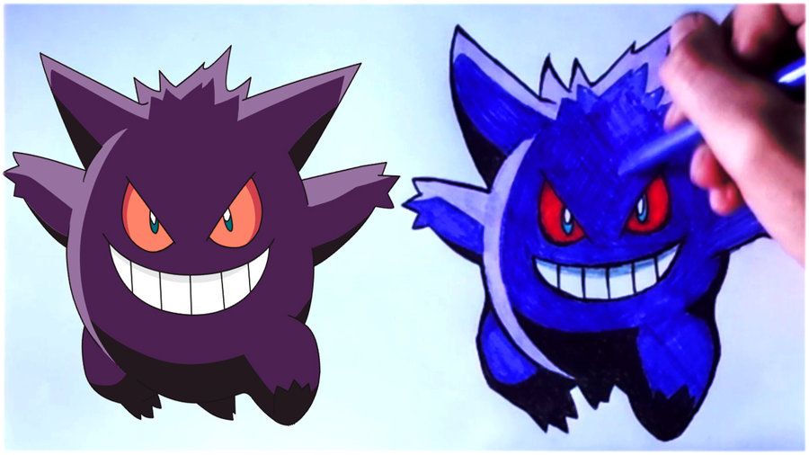 Pokemon Go How To Draw Gengar Speed Art Pokemon Go Por Dibujos