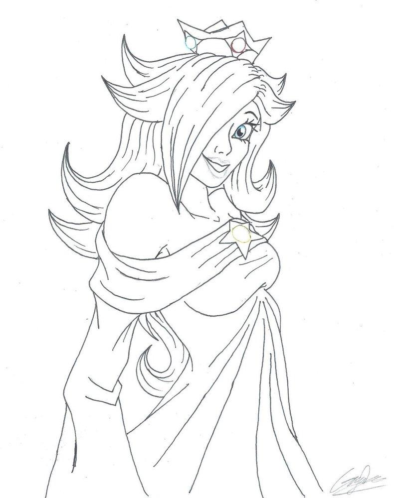 princesa rosalina para colorear
