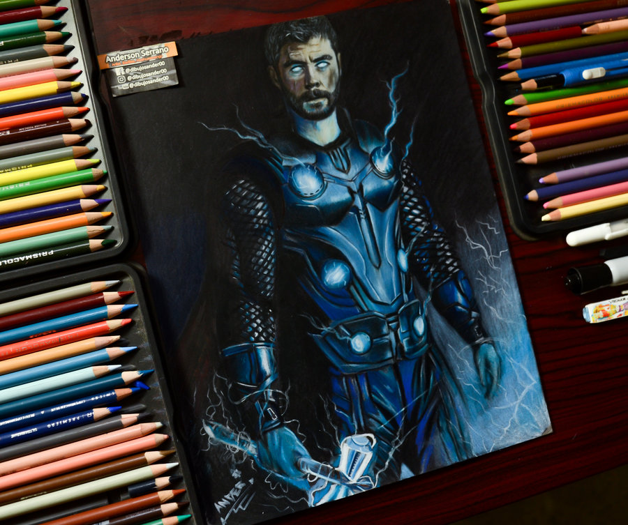 Thor Infinity War Por Dibujosander00 Dibujando
