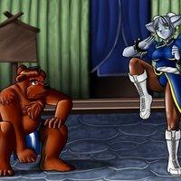 Primer intento de fondos - Street Fighter anthro