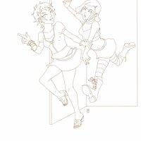Comm: Aelita y Yumi WIP