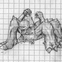 arachno evil(creado por daniel delgado e ilustrado por mí)