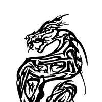 Dragón tribalizado